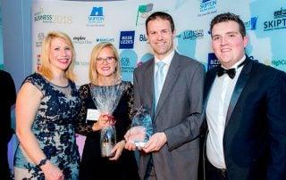 Gitana and David collect JB Springs' Award