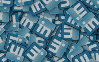 3D LinkedIn Logos